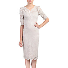 Buy Jolie Moi Lace V Neck Bodycon Dress, Taupe Online at johnlewis.com