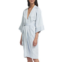 Buy Whistles Stripe Cotton Dressing Gown, Pale Grey Online at johnlewis.com