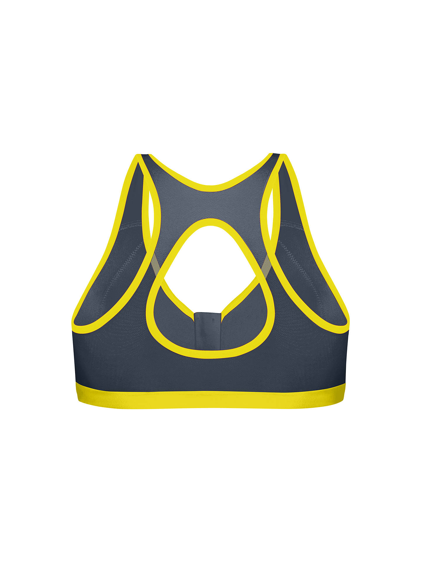 Buy Shock Absorber Active Zipped Plunge Non-Wired Sports Bra, Grey/Yellow, 32B Online at johnlewis.com