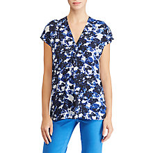 Buy Lauren Ralph Lauren Andreya Pleated Floral Georgette Top, Multi Online at johnlewis.com