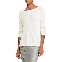 Buy Lauren Ralph Lauren Breonica Ribbed Jumper, Mascarpone Cream Online at johnlewis.com