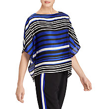 Buy Lauren Ralph Lauren Anielka Stripe Satin Dolman Top, Multi Online at johnlewis.com