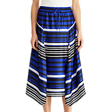 Buy Lauren Ralph Lauren Hiroya Stripe Satin Drawstring Skirt, Multi Online at johnlewis.com