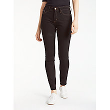 Buy Calvin Klein High Rise Skinny Jeans, Raw Black Online at johnlewis.com