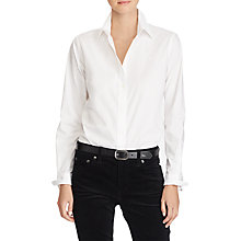 Buy Lauren Ralph Lauren Jamelko Shirt, White Online at johnlewis.com