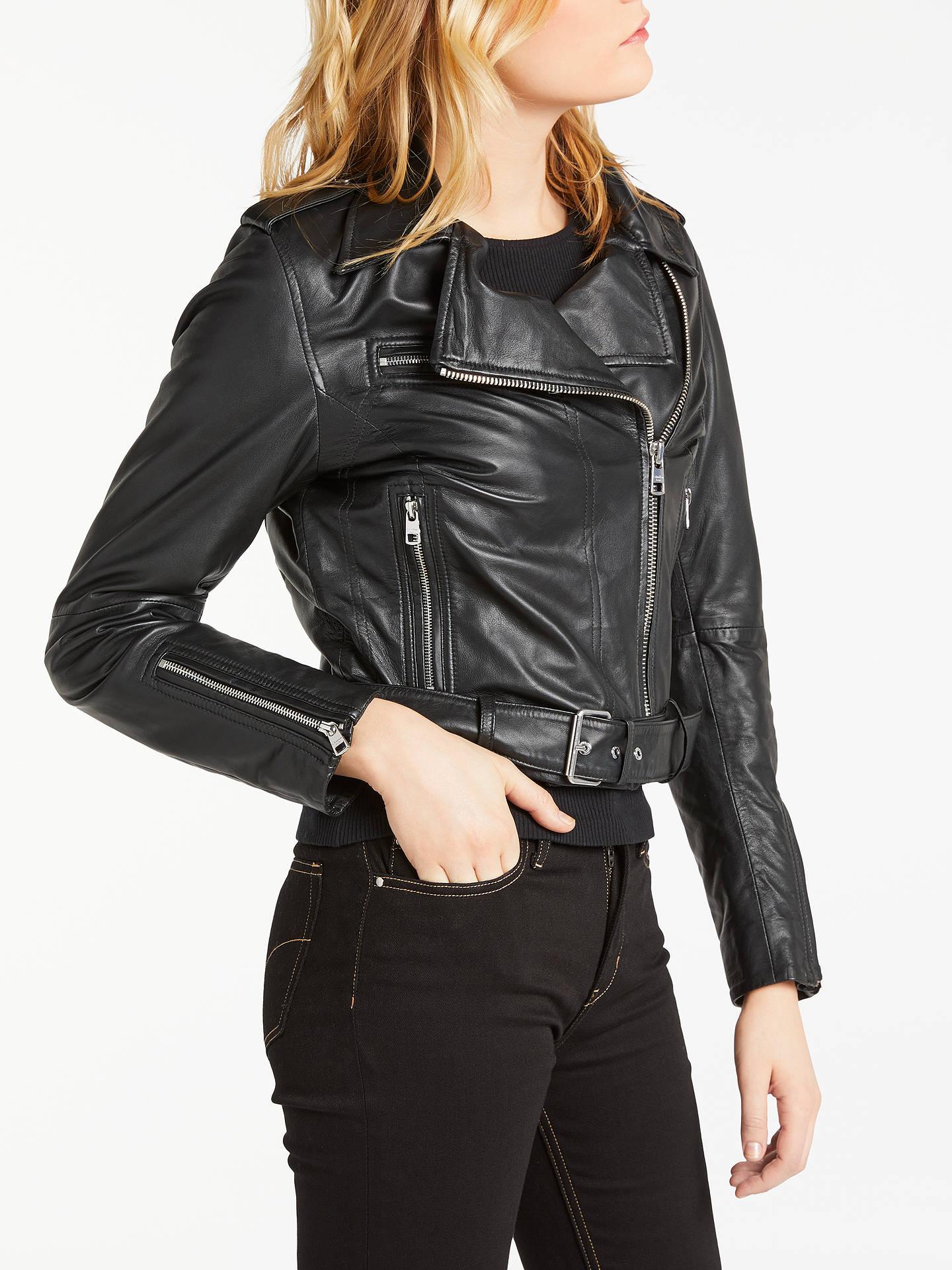Calvin Klein Soft Leather Biker Jacket