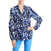 Buy Lauren Ralph Lauren Floral Georgette Shirt, Multi Online at johnlewis.com