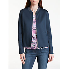 Buy Gerry Weber Jersey Bomber Jacket, Navy Blue Online at johnlewis.com