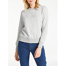 Buy Calvin Klein Hondi Logo Sweatshirt, Light Grey Heather Online at johnlewis.com