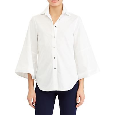 Lauren Ralph Lauren Dolman Cotton Poplin Shirt, White