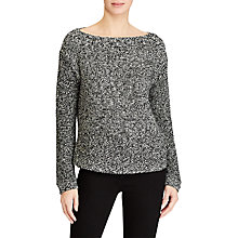 Buy Lauren Ralph Lauren Vadrian Boat Neck Jumper, Polo Black Marl Online at johnlewis.com