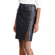 Buy Lauren Ralph Lauren Rabancio Leather Pencil Skirt, Polo Black Online at johnlewis.com