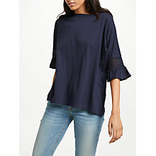 Buy AND/OR Macrame Frill Sleeve Top Online at johnlewis.com