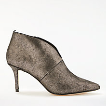 Buy Boden Alexa Stiletto Heeled Ankle Boots, Gold Leather Online at johnlewis.com