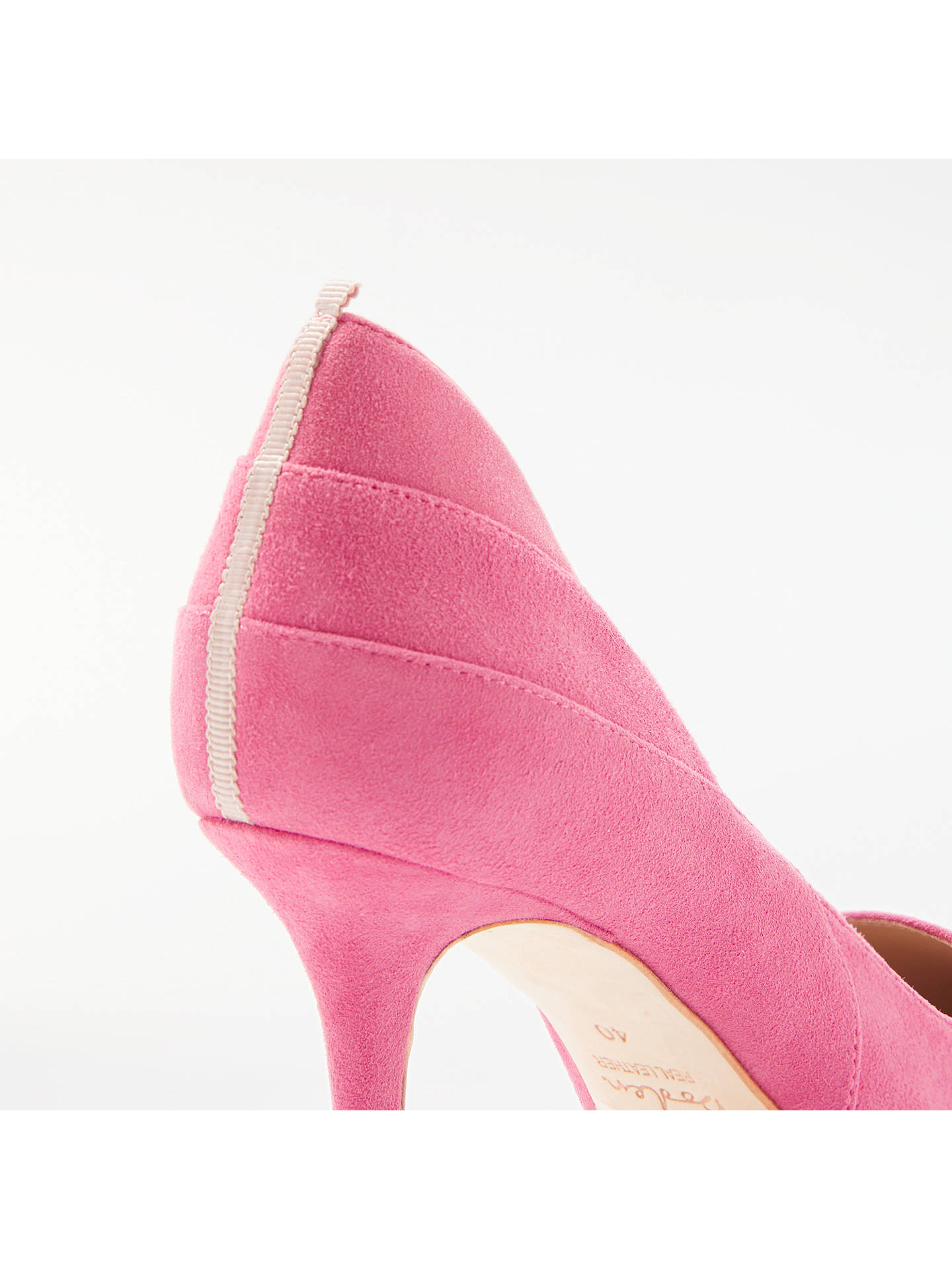 Buy Boden Carrie Stiletto Heeled Court Shoes, Pink Suede, 4 Online at johnlewis.com
