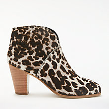 Buy Boden Marlow Block Heeled Ankle Boots, Grey Online at johnlewis.com