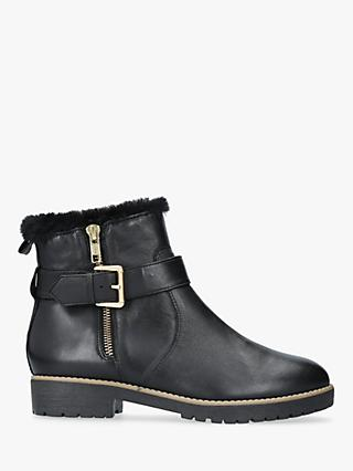 Carvela Scout Buckle Ankle Boots, Black Leather