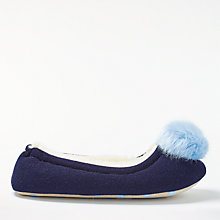 Buy Boden Knitted Pom Pom Slippers Online at johnlewis.com