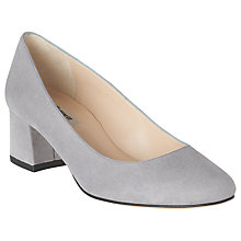 Buy L.K. Bennett Maisy Block Heeled Court Shoes, Grey Suede Online at johnlewis.com