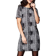 Buy Yumi Zig Zag Shift Dress, Black Online at johnlewis.com