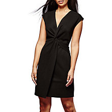 Buy Yumi Ruched Knot Dress, Black Online at johnlewis.com