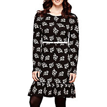 Buy Yumi Fan Print Skater Dress, Black Online at johnlewis.com