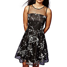 Buy Yumi Cherry Blossom Mesh Dress, Black Online at johnlewis.com
