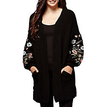 Buy Yumi Floral Embroidered Chunky Cardigan, Black/Multi Online at johnlewis.com