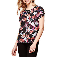 Buy Yumi Nouveau Floral Print Top, Black Online at johnlewis.com