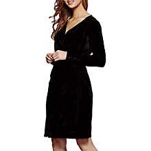 Buy Yumi Velvet Tie Wrap Dress Online at johnlewis.com