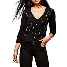 Buy Yumi Galaxy Embroidered Cardigan, Black Online at johnlewis.com