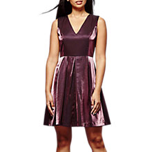 Buy Yumi Metallic Skater Dress, Purple Online at johnlewis.com