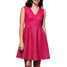 Buy Yumi Sleeveless Stripe V-Neck Dress Online at johnlewis.com