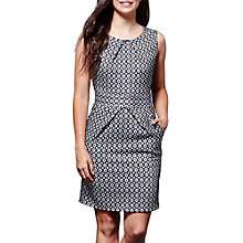 Buy Yumi Geometric Print Tulip Dress, Navy/Multi Online at johnlewis.com