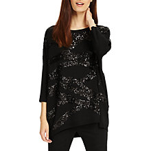 Buy Phase Eight Rachelle Rope Sequin Knit Jumper, Black Online at johnlewis.com