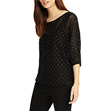 Buy Phase Eight Dian Diamante Knit Jumper, Black Online at johnlewis.com