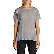 Buy AllSaints Zita Short Sleeve Top Online at johnlewis.com