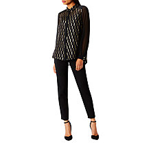 Buy Coast Taci Burnout Blouse, Black/Metallic Online at johnlewis.com