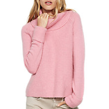 Buy Mint Velvet Fluffy Cowl Neck Jumper, Pink Online at johnlewis.com