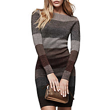 Buy Reiss Striped Ashlym Lurex Dress, Metallic Online at johnlewis.com