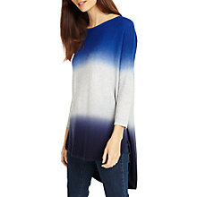Buy Phase Eight Lynda Double Dip Dye Jumper, Cobalt Online at johnlewis.com