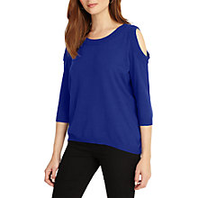 Buy Phase Eight Carine Cold Shoulder Knit Top, Cobalt Online at johnlewis.com