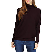 Buy Phase Eight Becca Roll Neck Jumper, Dark Merlot Online at johnlewis.com