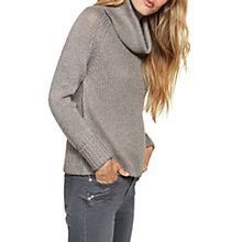 Buy Mint Velvet Metallic Cowl Neck Jumper, Mocha Online at johnlewis.com