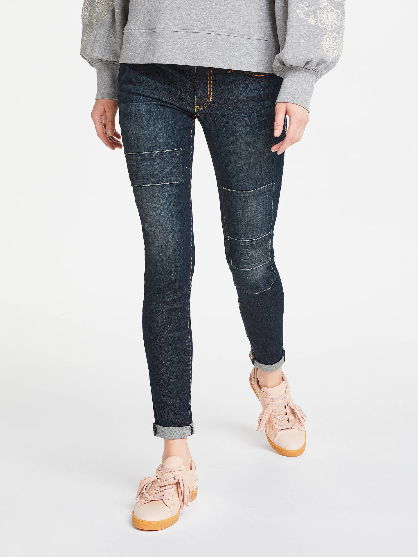 cheaper 9acb7 b54c7 AND/OR Abbot Kinney Patch Skinny Jeans, Rock On at John ...
