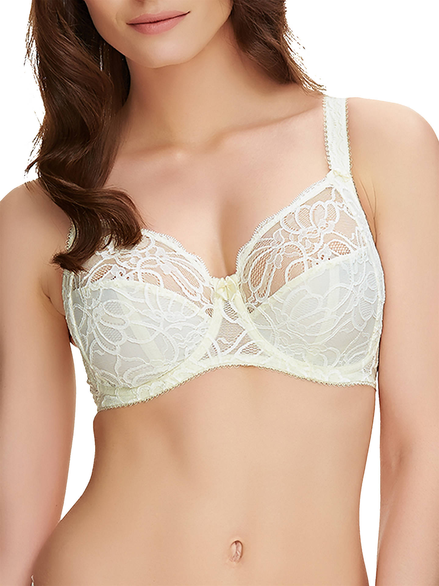 dab2af6a65d Buy Fantasie Jacqueline Lace Full Cup Bra, Ivory, 30DD Online at  johnlewis.com ...