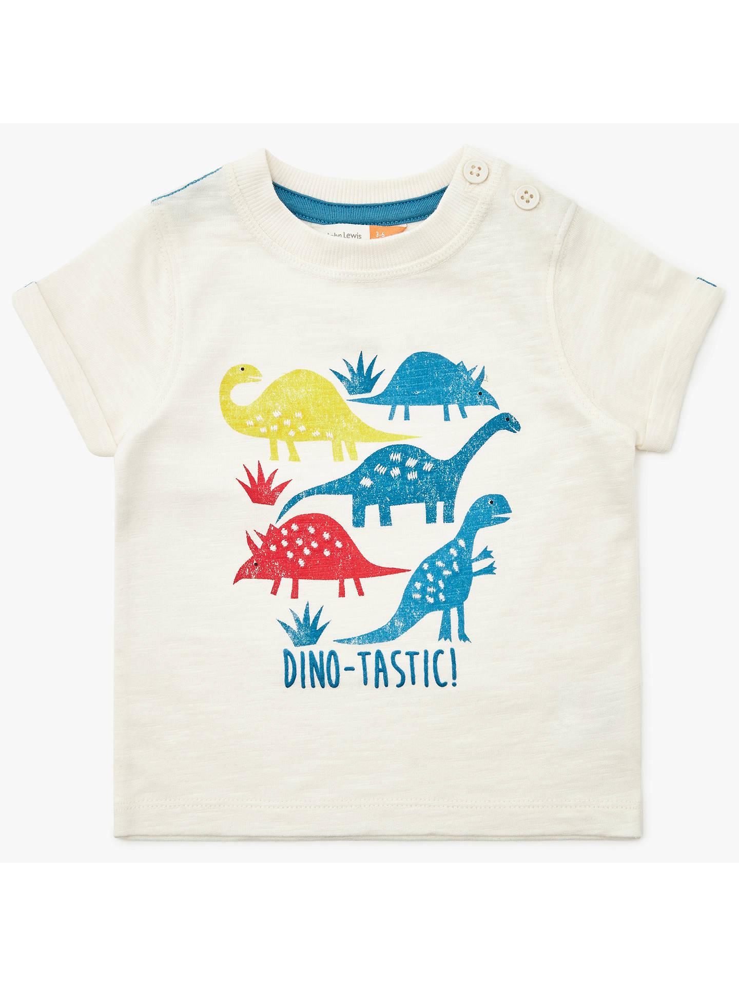 5fd0dcf29 John Lewis   Partners Baby Dinosaur T-Shirt