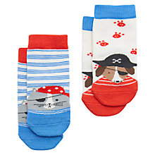 Buy Baby Joule Neat Feet Dog Socks, Pack of 2, Blue Online at johnlewis.com