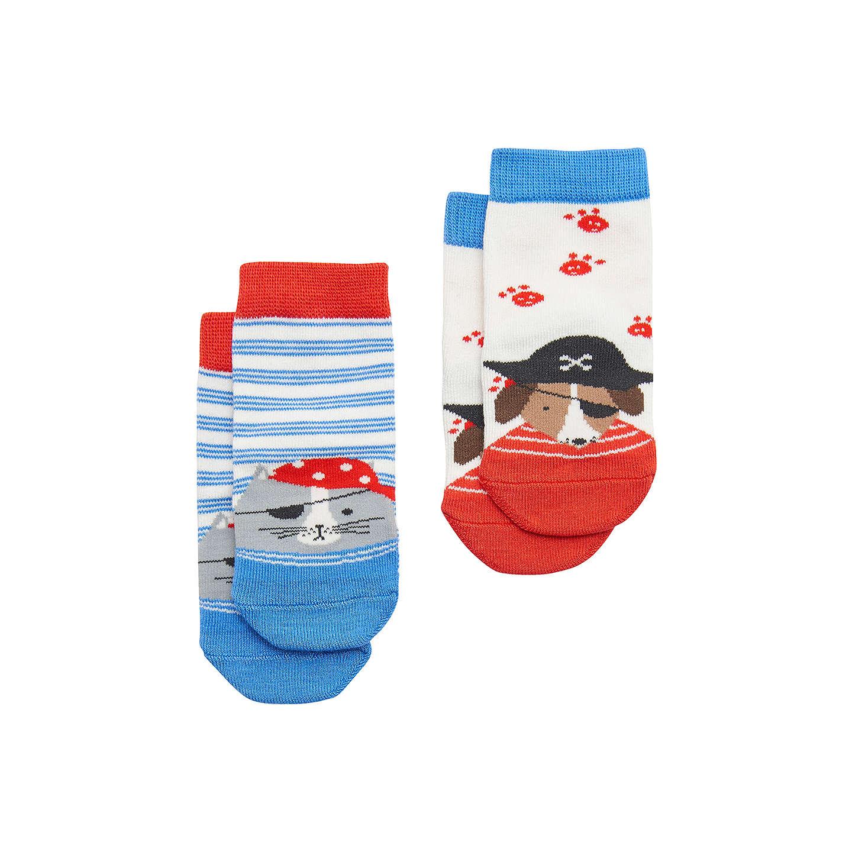 Baby Joule Neat Feet Dog Socks Pack of 2 Blue at John Lewis