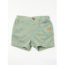 Buy John Lewis Baby Dino Shorts, Green Online at johnlewis.com